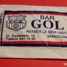 Sobres de azúcar de colección: SOBRE AZUCAR BAR GOL. BARCELONA. FC BARCELONA. BARÇA. FUTBOL.. Lote 198566493