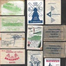Sobres de azúcar de colección: LOTE SOBRES DE AZÚCAR ANTIGUOS HOLANDESES.. Lote 199955196