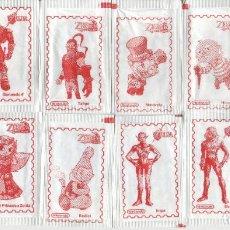 Sobres de azúcar de colección: LEGEND OF ZELDA - VIDEOJUEGO - NINTENTO - LOTE DE 11 SOBRES DE AZÚCAR, PERSONAJES DEL VIDEOJUEGO. Lote 200545133