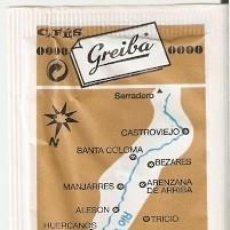 Bustine di zucchero di collezione: SOBRE AZUCAR. RIO YALDE. CAFÉS GREIBA. CORTADO INFERIOR. REF. 25-1409. Lote 243958310