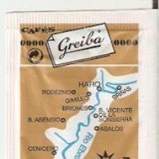 Bustine di zucchero di collezione: SOBRE AZÚCAR. RÍO EBRO. CAFÉS GREIBA. CORTADO INFERIOR. REF. 25-1419. Lote 243958555