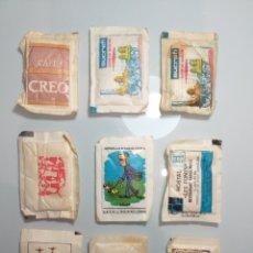 Sobres de azúcar de colección: 9 ANTIGUOS SOBRES AZÚCAR LLENOS - TRENES BARCOS CAFES. Lote 202936142