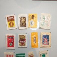 Sobres de azúcar de colección: LOTE 12 SOBRES AZUCAR - 3 TOMBS MARCILLA SAULA NOVELL. Lote 202937477