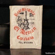 Pacotes de Açúcar de coleção: SOBRE AZUCAR RESTAURANTE EL ALEMAN. CARABAÑA (MADRID). VACIO.. Lote 202970420
