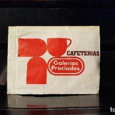 Sachets de sucre de collection: SOBRE AZUCAR GALERIAS PRECIADOS. MADRID. VACIO.. Lote 203608697