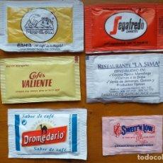 Sobres de azúcar de colección: LOTE 6 SOBRES DE AZUCAR. Lote 204527812