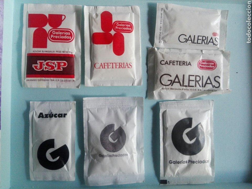 7 SOBRES DE AZÚCAR / AZUCARILLOS LLENOS - GALERIAS PRECIADOS - AÑOS 80 Y 90 (Coleccionismos - Sobres de Azúcar)
