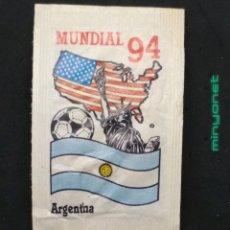 Bustine di zucchero di collezione: SOBRE DE AZÚCAR SERIE MUNDIAL 94 - ARGENTINA. CAFÉS BRASILIA. PRODUCTOS DEL CAFÉ, 10 GR. Lote 204969938