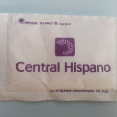 Pacotes de Açúcar de coleção: 1 SOBRE DE AZÚCAR / AZUCARILLO LLENO - CENTRAL HISPANO - AÑOS 90. Lote 205513015