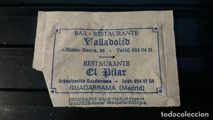 SOBRE AZUCAR. RESTAURANTES VALLADOLID Y EL PILAR. GUADARRAMA. (MADRID). VACIO (Coleccionismos - Sobres de Azúcar)
