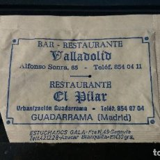 Sachets de sucre de collection: SOBRE AZUCAR. RESTAURANTES VALLADOLID Y EL PILAR. GUADARRAMA. (MADRID). VACIO. Lote 205524752