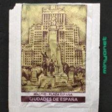 Sobres de azúcar de colección: SOBRE DE AZÚCAR SERIE CIUDADES DE ESPAÑA - MADRID - PLAZA DE ESPAÑA - CAFÉS SAULA. AESA, 10 GR.. Lote 205777322
