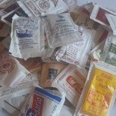 Sobres de azúcar de colección: GRAN LOTE DE SOBRES DE AZÚCAR 1KG APROX 120 SOBRES. Lote 205785012