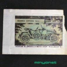 Sobres de azúcar de colección: SOBRE DE AZÚCAR SERIE AUTOMÓVILES ANTIGUOS - MORRIS OXFORD 1913. CAFÉS SAULA, 10 GR.. Lote 205884843