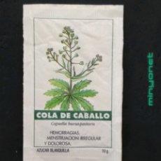 Sobres de azúcar de colección: SOBRE DE AZÚCAR SERIE PLANTAS MEDICINALES - COLA DE CABALLO. CAFÉS BRASILIA. PRODUCTOS DEL CAFÉ, 10G. Lote 206308855