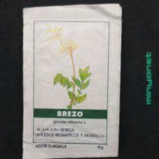 Sobres de azúcar de colección: SOBRE DE AZÚCAR SERIE PLANTAS MEDICINALES - BREZO. CAFÉS BRASILIA. PRODUCTOS DEL CAFÉ, 10 GR.. Lote 206757495