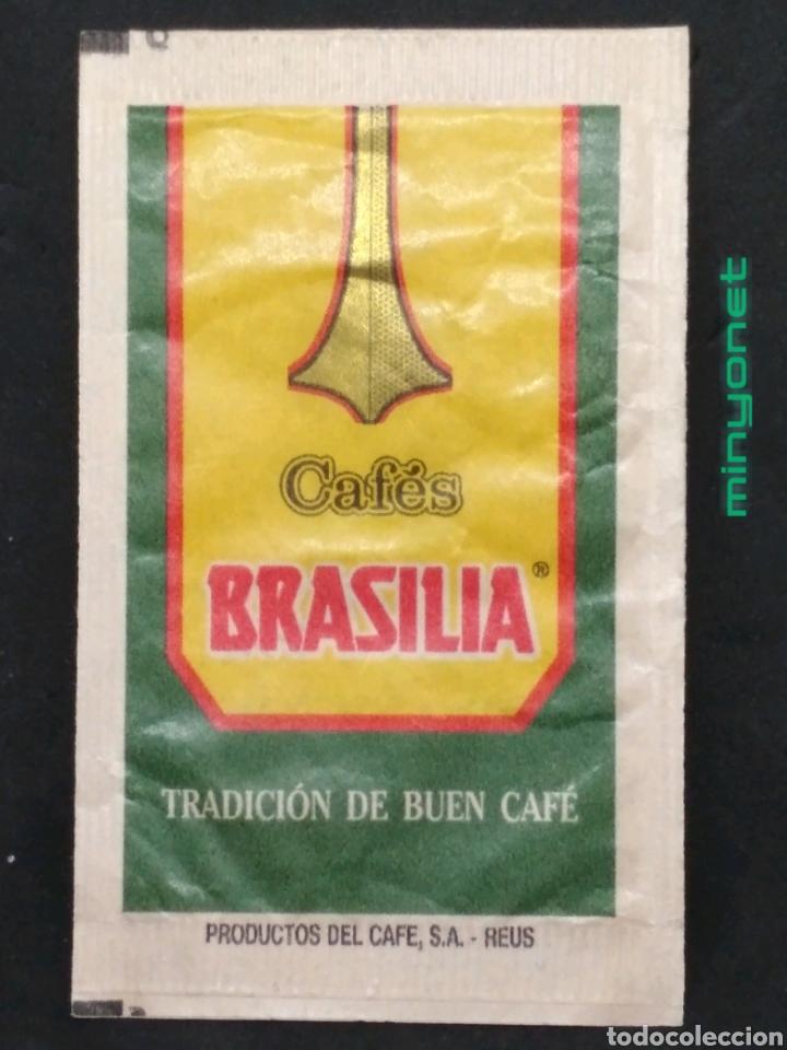 Sobres de azúcar de colección: Sobre de azúcar serie plantas medicinales - Borraja. Cafés Brasilia. Productos del café, 10 gr. - Foto 2 - 206865077