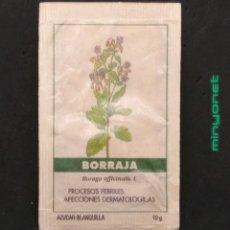 Sobres de azúcar de colección: SOBRE DE AZÚCAR SERIE PLANTAS MEDICINALES - BORRAJA. CAFÉS BRASILIA. PRODUCTOS DEL CAFÉ, 10 GR.. Lote 206865077