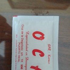 Sobres de azúcar de colección: SOBRE DE AZUCAR BAR OCA. PUERTO REAL. CÁDIZ. Lote 206904342