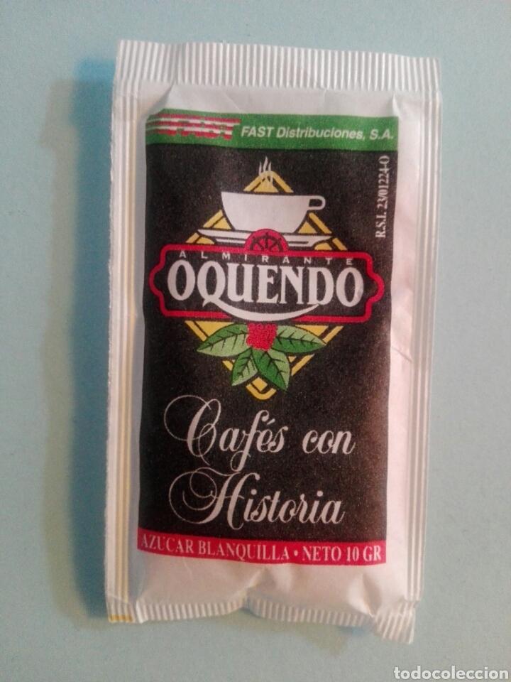 Sobres de azúcar de colección: 1 Sobre de azúcar / Azucarillo lleno - Cafes Oquendo - Años 90 - Pedido mínimo - Foto 2 - 206954348
