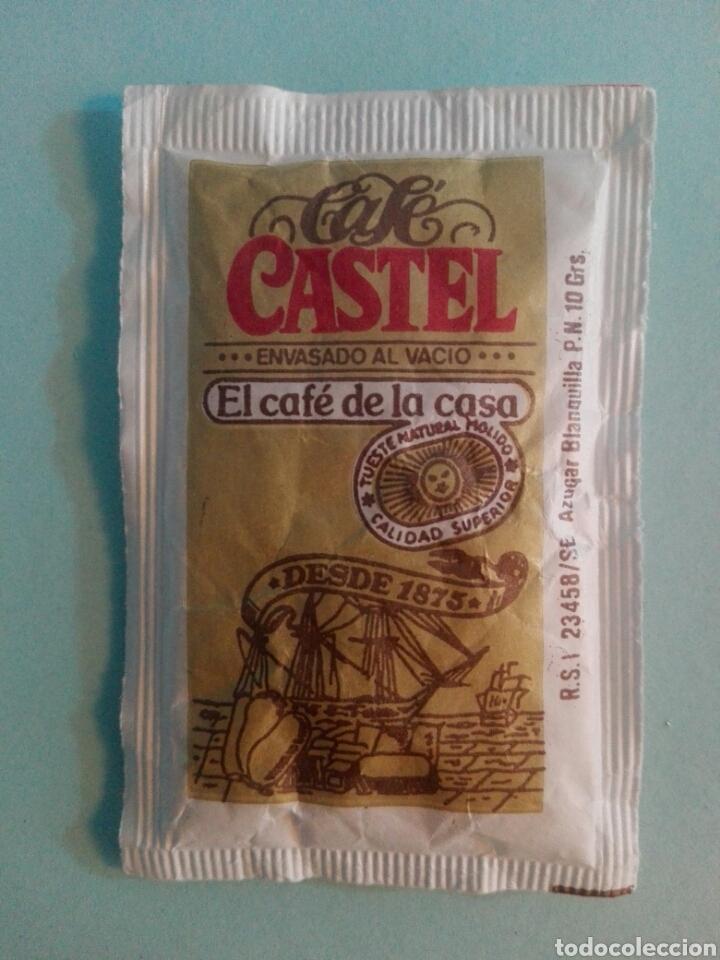 Sobres de azúcar de colección: 1 Sobre de azúcar / Azucarillo lleno - Cafes Castel - Años 90 - Pedido mínimo - Foto 2 - 206954393