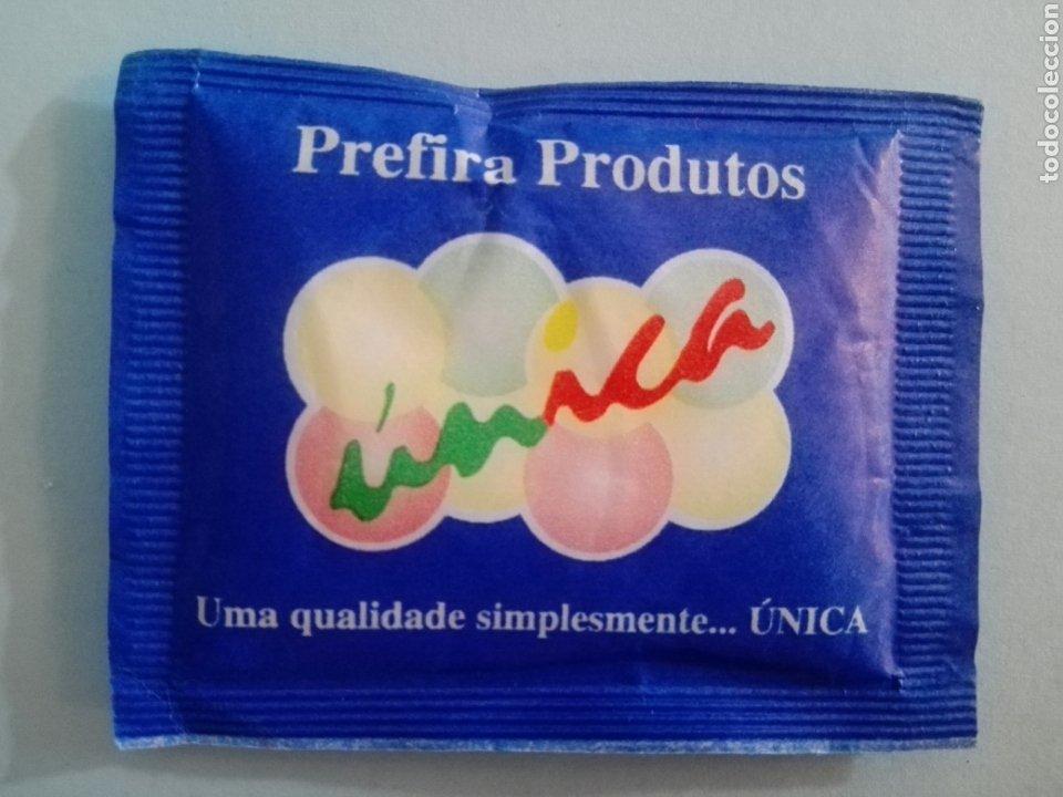 1 SOBRE DE AZÚCAR / AZUCARILLO LLENO - ÚNICA PORTUGAL - AÑOS 90 - PEDIDO MÍNIMO (Coleccionismos - Sobres de Azúcar)