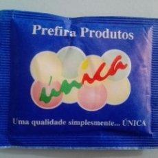 Sobres de azúcar de colección: 1 SOBRE DE AZÚCAR / AZUCARILLO LLENO - ÚNICA PORTUGAL - AÑOS 90 - PEDIDO MÍNIMO. Lote 206954610