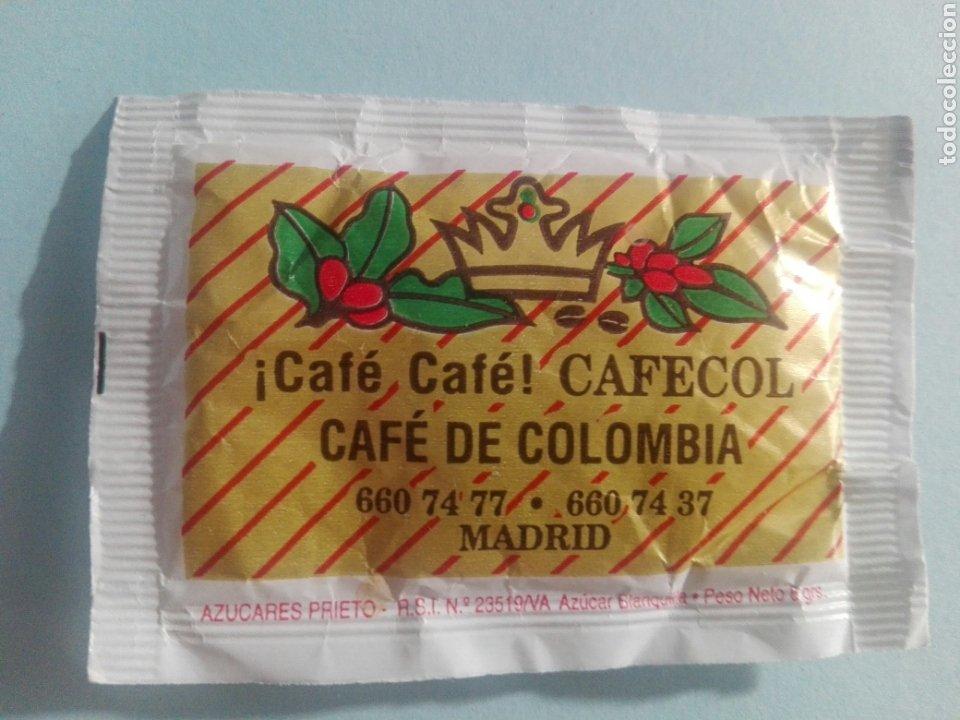 Sobres de azúcar de colección: 1 Sobre de azúcar / Azucarillo lleno - Cafes Cafecol - Años 90 - Pedido mínimo - Foto 2 - 206955325