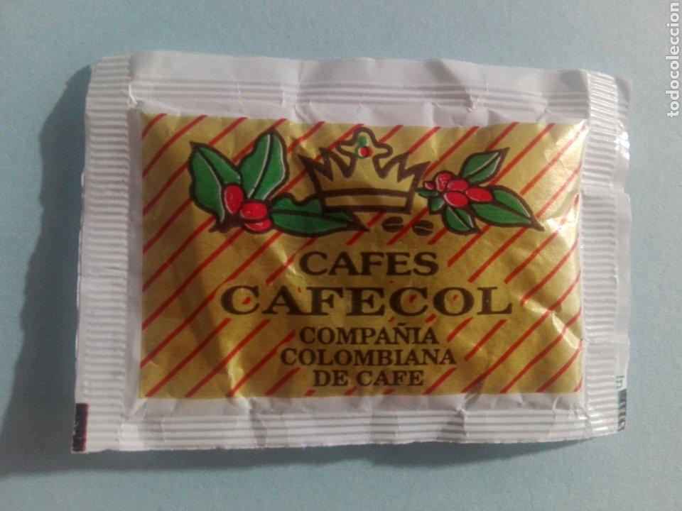 1 SOBRE DE AZÚCAR / AZUCARILLO LLENO - CAFES CAFECOL - AÑOS 90 - PEDIDO MÍNIMO (Coleccionismos - Sobres de Azúcar)