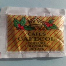 Sobres de azúcar de colección: 1 SOBRE DE AZÚCAR / AZUCARILLO LLENO - CAFES CAFECOL - AÑOS 90 - PEDIDO MÍNIMO. Lote 206955325