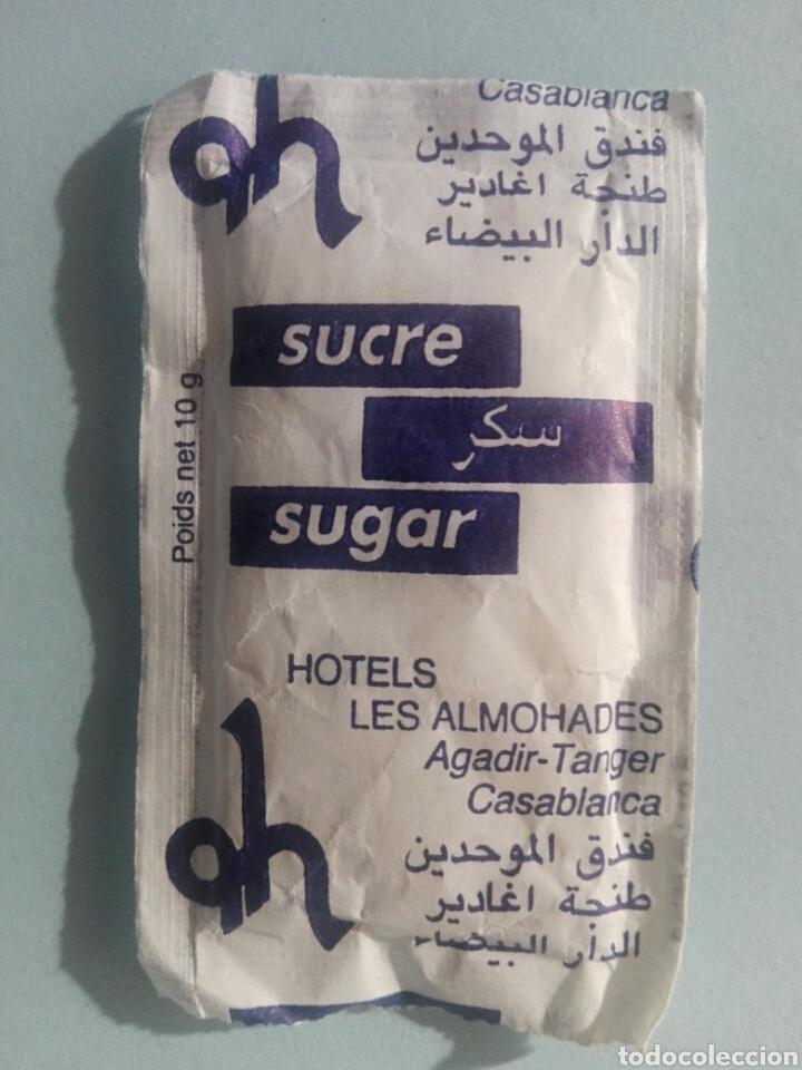 Sobres de azúcar de colección: 1 Sobre de azúcar / Azucarillo lleno - Hotel Les Almohades Marruecos - Años 90 - Pedido mínimo - Foto 2 - 206955393