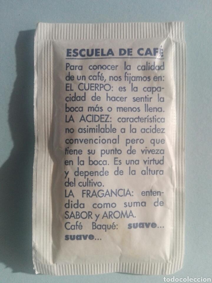 Sobres de azúcar de colección: 1 Sobre de azúcar / Azucarillo lleno - Café Eskola Baque Escuela de café - Años 90 - Pedido mínimo - Foto 2 - 206955453