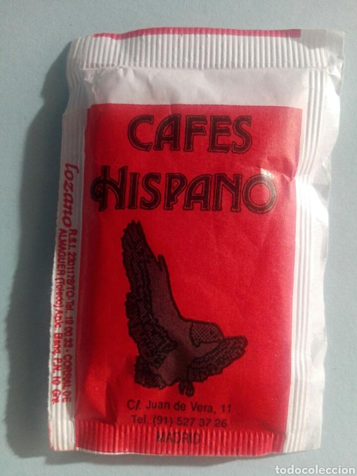 1 SOBRE DE AZÚCAR / AZUCARILLO LLENO - CAFÉS HISPANO - AÑOS 90 - PEDIDO MÍNIMO (Coleccionismos - Sobres de Azúcar)