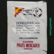 Sobres de azúcar de colección: SOBRE DE AZÚCAR SERIE EQUIPOS DEL MUNDIAL 82 - HONDURAS. CAFÉS PRATS MERCADER. AESA, 10 GR.. Lote 206966393