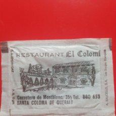 Pacotes de Açúcar de coleção: SOBRE AZÚCAR RESTAURANT EL COLOMI. BRASILIA. Lote 208925053