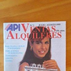 Sobres de azúcar de colección: API VENTA ALQUILERES Nº1. Lote 210107046