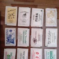 Sobres de azúcar de colección: 12 SOBRES DE AZÚCAR BARES RESTAURANTES HOTELES VENTAS CÁDIZ PUERTO REAL MEDINA SIDONIA. Lote 262581330