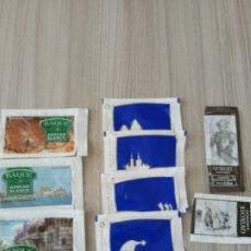 Sobres de azúcar de colección: 9 SOBRES AZUCAR MOTIVOS NAVIDEÑOS, EL QUIJOTE Y CANTABRIA. Lote 214818962