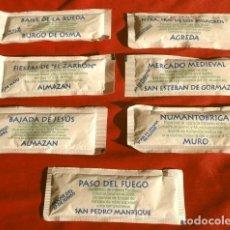 Sobres de azúcar de colección: NO TE PUEDES PERDER EN SORIA - SERIE TURÍSTICA 7 SOBRES DE AZUCAR DIFERENTES - ED. C.H.O.. Lote 215569162