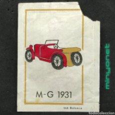 Sobres de azúcar de colección: SOBRE DE AZÚCAR SERIE AUTOMÓVILES ANTIGUOS - MG 1931. CAFÉS BRASILIA, IND. BOLSERA, 10 GR.. Lote 217890672