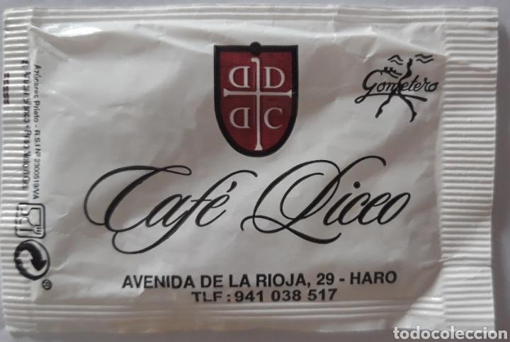 SOBRE AZÚCAR CAFÉ LICEO (Coleccionismos - Sobres de Azúcar)