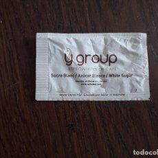 Sobres de azúcar de colección: SOBRE DE AZÚCAR VACÍO DE PUBLICIDAD, YGROUP, CAFES BAY. MALLORCA.. Lote 218210966