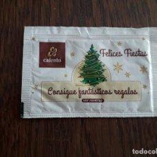 Sobres de azúcar de colección: SOBRE DE AZÚCAR DE PUBLICIDAD VACÍO, FELICES FIESTAS, CAFENTO.. Lote 218639747
