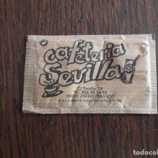 Sobres de azúcar de colección: SOBRE DE AZÚCAR DE PUBLICIDAD VACÍO, CAFETERÍA SEVILLA, ZAFRA. BADAJOZ.. Lote 218639848