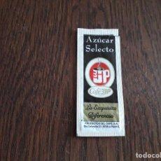 Pacotes de Açúcar de coleção: SOBRE DE AZÚCAR VACÍO DE PUBLICIDAD, CAFÉ 3JP. Lote 220893060