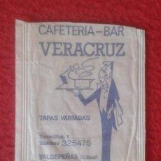 Sobres de azúcar de colección: SOBRE DE AZÚCAR PACKET OF SUGAR SUCRE ZUCKER ZUCCHERO CAFETERÍA BAR VERACRUZ VADEPEÑAS CIUDAD REAL... Lote 221436507