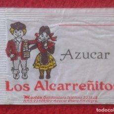 Sobres de azúcar de colección: SOBRE DE AZÚCAR PACKET OF SUGAR SUCRE ZUCKER ZUCCHERO LOS ALCARREÑITOS MARIÁN GUADALAJARA...CASTILLA. Lote 221436656