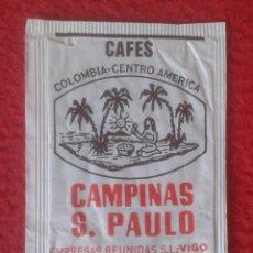 Sobres de azúcar de colección: SOBRE DE AZÚCAR PACKET OF SUGAR SUCRE ZUCKER ZUCCHERO CAFÉS CAMPINAS S. PAULO VIGO VER FOTOS Y DESCR. Lote 221437522