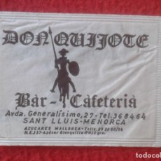 Sobres de azúcar de colección: SOBRE DE AZÚCAR PACKET OF SUGAR SUCRE ZUCKER ZUCCHERO DON QUIJOTE BAR CAFETERÍA SANT LLUIS MENORCA... Lote 221438320