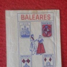 Sobres de azúcar de colección: SOBRE DE AZÚCAR PACKET OF SUGAR SUCRE ZUCKER ZUCCHERO BALEARES COMPAÑÍA HISPANA PALMA DE MALLORCA.... Lote 221438510